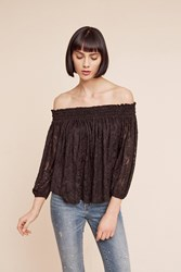 Anthropologie Sommer Off The Shoulder Top Black