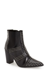 Topshop Studded Pointy Toe Boot Women Black