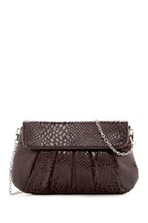 Urban Expressions Juliet Snake Embossed Vegan Leather Clutch Gray