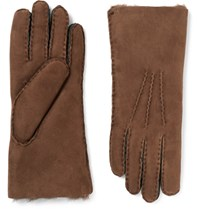 Paul Smith Sith Shearling Gloves Brown