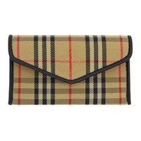 Burberry Beige And Black 1983 Check Small Card Holder