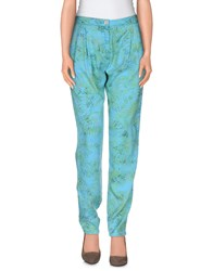 Re Hash Trousers Casual Trousers Women Turquoise