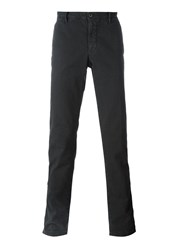 Incotex Pinstriped Straight Leg Trousers Grey
