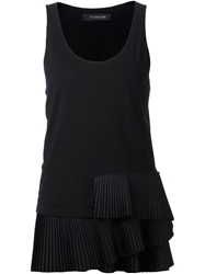 Thakoon Tiered Tank Top Black