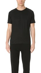 Z Zegna Short Sleeve Techmerino Tee Black