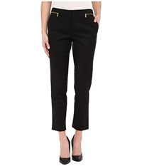 Calvin Klein Ankle Pants W Zips Black Women's Casual Pants