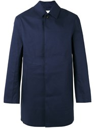 Mackintosh Classic Short Raincoat Blue