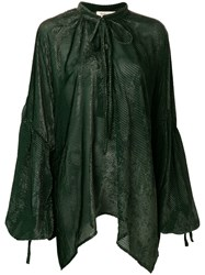 Black Coral Ilary Blouse Green