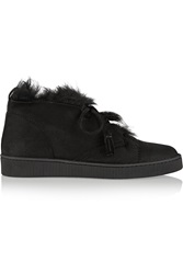 Pedro Garcia Parley Shearling Lined Suede Ankle Boots