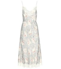 Zimmermann Lace Trimmed Crepe Satin Dress Multicoloured