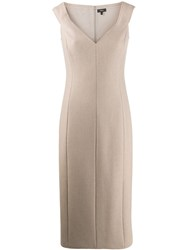 Theory Panelled Midi Dress Neutrals