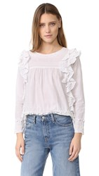 Intropia Eyelet Blouse White