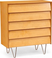 Modernica Case Study Dresser 5 Drawer Classic Light Brown