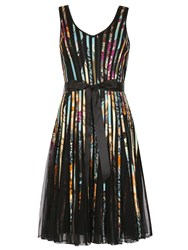 Izabel London Multi Coloured Ribbon Midi Dress Multi Coloured Multi Coloured