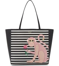 Kate Spade New York Hallie Rambling Roses Monkey Leather Tote Multi