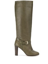 Tila March Knee Length Boots Green