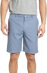Peter Millar Men's 'Salem' Flat Front Performance Shorts Mediterranean Blue