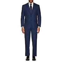 Piattelli Napoli Wool Silk Two Button Suit Blue