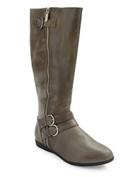 Me Too Freja Leather Riding Boots Grey