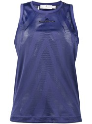 Adidas By Stella Mccartney Perforated Detail Top Pink Purple