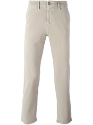 7 For All Mankind Slim Fit Trousers Nude And Neutrals