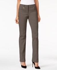Jm Collection Petite Slim Leg Pants Only At Macy's Brown Clay