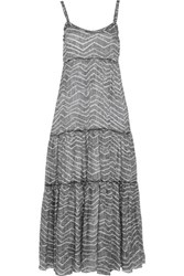Missoni Printed Silk Blend Maxi Dress Gray