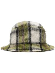 Natasha Zinko Check Pattern Bucket Hat Green