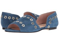 French Sole Whistle 2 Zafiro Blue Suede Women's Shoes