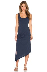 Candc California Asymmetrical Tank Dress Navy