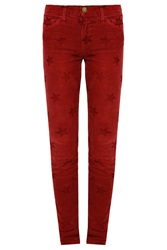Current Elliott The Ankle Star Print Corduroy Skinny Jeans