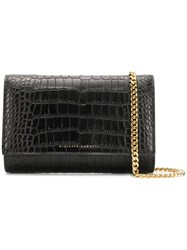 Giuseppe Zanotti Design Crocodile Style Clutch Bag Black