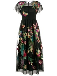 Red Valentino Redvalentino Floral Embroidered Tulle Dress 60