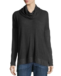 Neiman Marcus Stretch Knit Dolman Sleeve Tee Heachargry