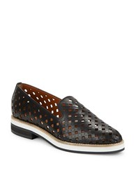Aquatalia By Marvin K Zanna Perforated Leather Loafers Black