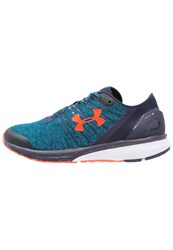 Under Armour Charged Bandit 2 Neutral Running Shoes Peacock Midnight Navy Bolt Orange Blue