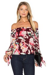 Eight Sixty Off The Shoulder Blouse Wine