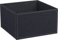 Cb2 Navy Felt Open Storage Box