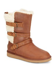 Ugg Becket Leather Mid Calf Boots Chestnut