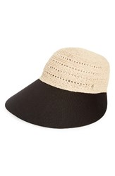 Helen Kaminski Women's Raffia Hat Beige Natural Black