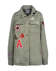 George J. Love Coats And Jackets Jackets Women Military Green