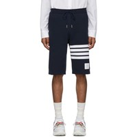 Thom Browne Navy 4 Bar Classic Sweat Shorts