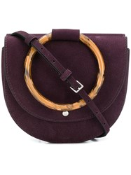 Theory Bracelet Shoulder Bag Pink And Purple