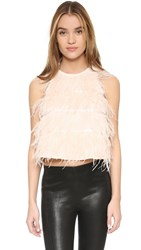 Line And Dot Feather Blouse Pale Pink