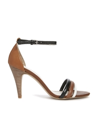 Aldo Single Sole Strap Sandals Tanblack