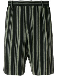 Golden Goose Deluxe Brand Striped Shorts Black