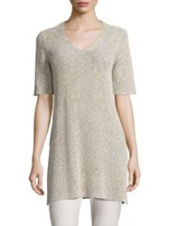 Eileen Fisher Knit Side Slit Tunic Pebble