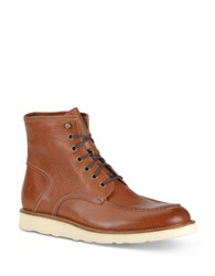 Andrew Marc New York Ashford Leather Mid Boots Cognac