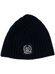 Pringle Of Scotland Cashmere Logo Beanie Blue