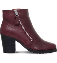 Kurt Geiger Sweep Ankle Boots Wine